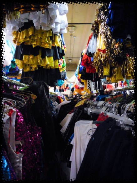 Oh look! Rows of hangers full of costumes!