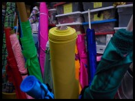 ... and yet MORE FABRIC! All bright colours, anxiously waiting to get on the stage!