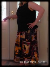 """May 19 - and my favourite """"Picasso"""" skirt! Me Made long ago."""