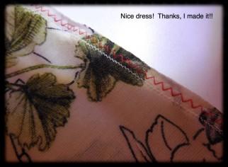 Sewn again with my stretch stitch