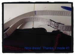 Put equal distant marks on the elastic for the front and back and side seams.